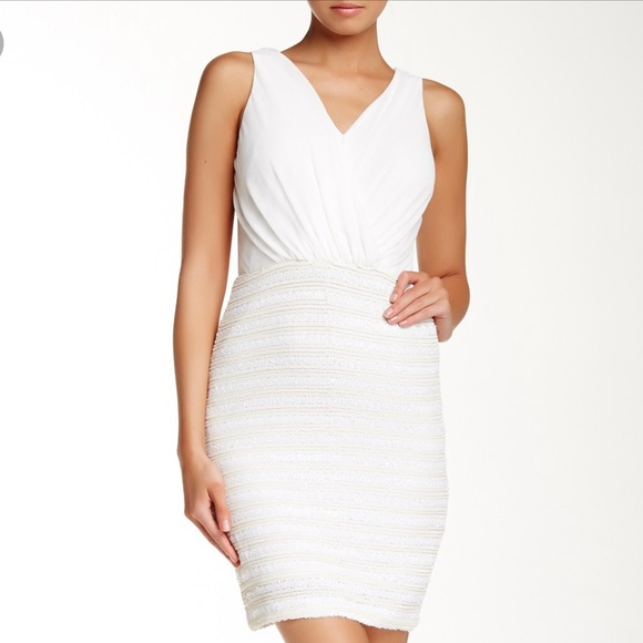 Laundry By Shelli Segal Dresses & Skirts - Laundry by Shelli Segal white sequin dress